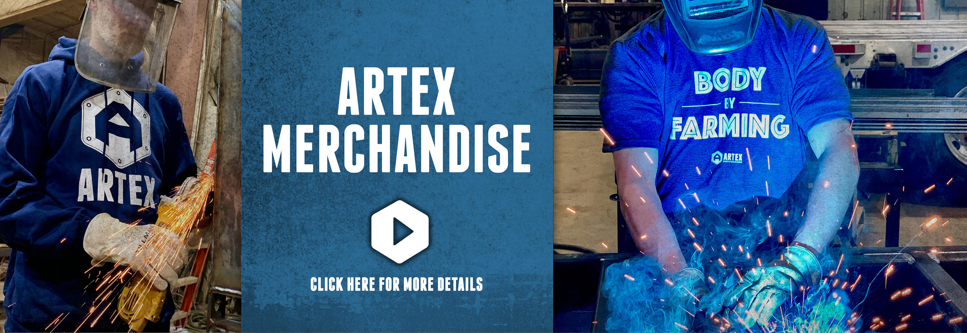 artex merchandise blue